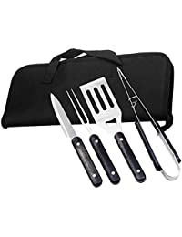 Purchase 4 PCS Outdoor Picnic BBQ Barbecue Portable Stainless Steel Cooking Cutters Shovel Fork Tongs Grill Tool Utensil... opportunity