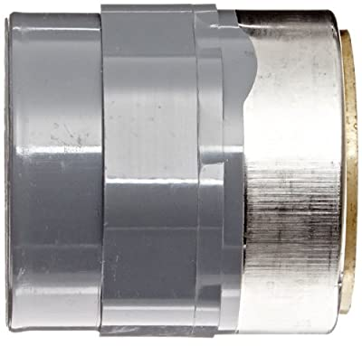 Spears 835-CBR Series CPVC Pipe Fitting, Adapter, Schedule 80, Gray, Socket x Brass NPT Female