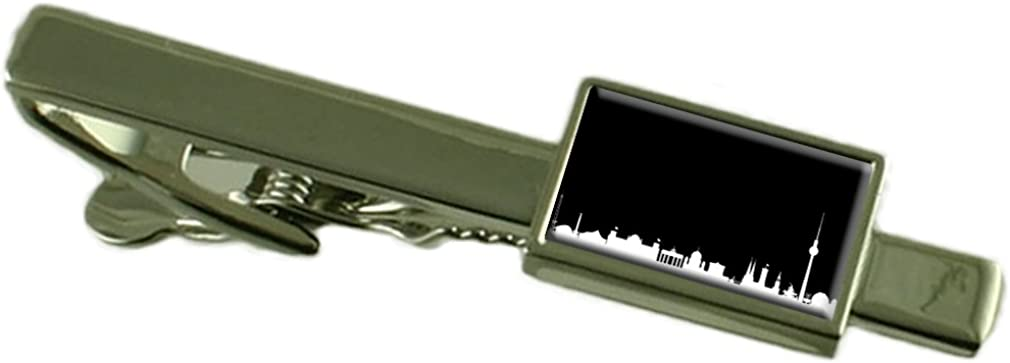 Select Gifts Skyline Berlin Tie Clip Engraved Personalised Box