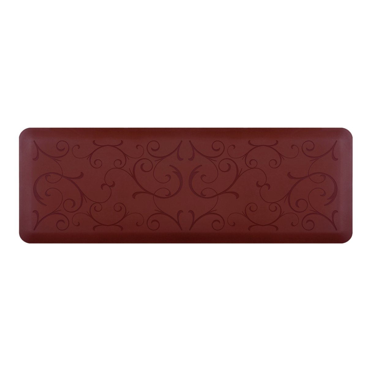 WellnessMats Bella Motif Anti-Fatigue Mat, Burgundy, 72 Inch by 24 Inch by WellnessMats