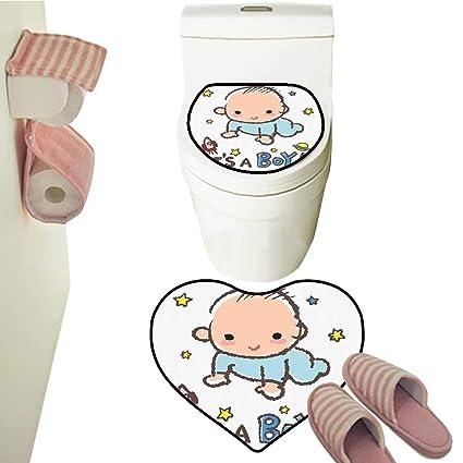 Amazon com: 2 Piece Rug Set Little Baby Boy Smiling Rocket