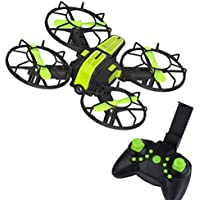 Buolo Quadcopter With Camera X1 2.4G 2.4GHz Plug-in 4-Axis Mini DIY RC Drone Quadcopter 720P Camera FPV (Green)