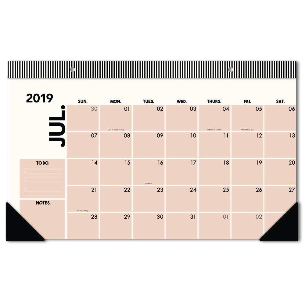 Meritt 2019-2020 Academic Year Monthly Desk Pad Calendar Compact Emily The Compact Desk Pad Calendar EM200-705A 17-3//4 x 11