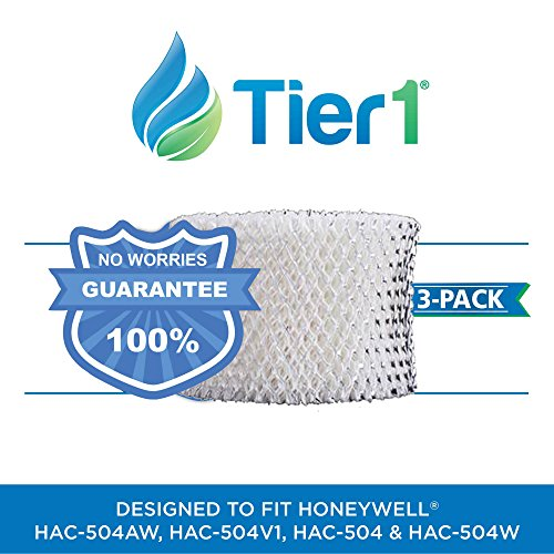 Tier1 HAC-504AW Comparable Honeywell HAC-504 Replacement Wick Filter for Honeywell Models HCM-530, HCM-535-20 3 (1000c Humidifier)