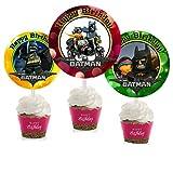 Crafting Mania LLC. 12 Batman Movie Birthday Inspired Party Picks, Cupcake Picks, Cupcake Toppers #1