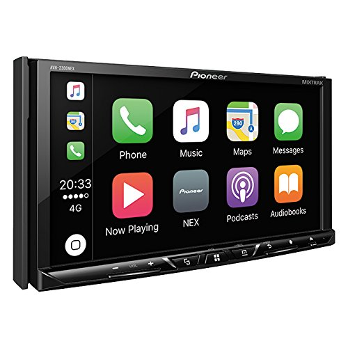 Pioneer AVH-2300NEX Multimedia DVD Receiver with 7″ WVGA Display/Apple CarPlay/Android Auto/Built-in Bluetooth/SiriusXM-Ready/AppRadio Mode +