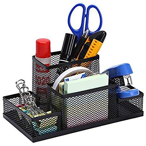 Aavjo, Metal Mesh Storage Office Desk Accessories Supplies Organiser Pen Pencil Holder (4 Compartment) (B07MCDDDTM) Amazon Price History, Amazon Price Tracker