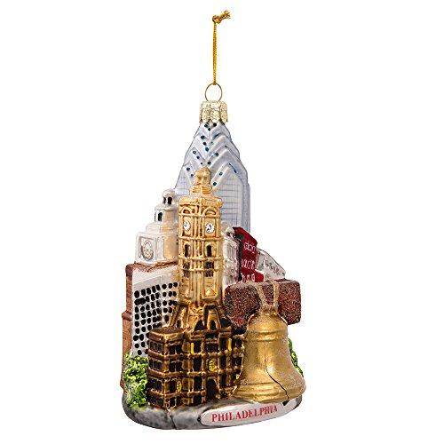 (Kurt Adler C4109 Philadelphia Glass Cityscape Ornament, 5-Inch)