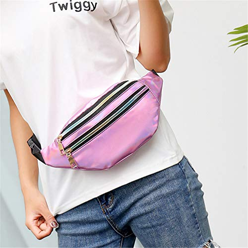 e2790d086aae SHOPUS | Holographic Waist Bags Women Pink Silver Fanny Pack Female ...