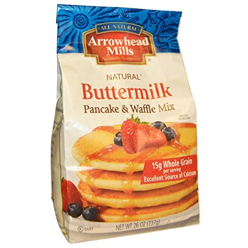 Arrowhead Mills, Natural Pancake and Waffle Mix, Buttermilk, 26 oz (737 g)(pack of - Arrowhead Butters Mills Nut