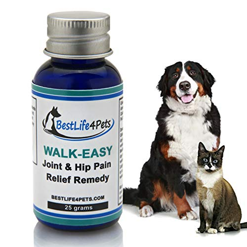 Walk-Easy Hip and Joint Supplement for Dogs and Cats; Advanced Anti-inflammatory Pain Relief Homeopathic Treatment Takes The Pain Away, Provides Leg and Knee Support, Eases Your Pet's Arthritis Pain ()