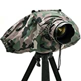 Matin DSLR SLR Camera 300mm Long Lens Deluxe Rain Cover Professional V2 - Camouflage Woodland