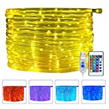 Ollny 10m 100 LED Rope String Lights 16 Colors Changing String Lights USB Powered with Remote Control & Timer Waterproof Christmas Xmas Decorative Lights for Outdoor and I
