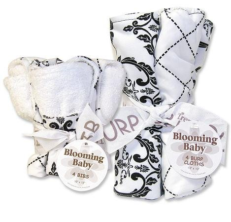 Trend Lab Bibs and Burp Cloths Bouquet Set - Versailles Black and by Trend Lab