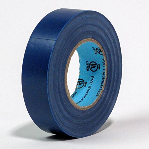 10 Rolls Professional Industrial General Purpose Electrical Tape with Moisture Tight Protection - 3/4 Inch X 66 Feet - Blue Color - 10 Rolls per Case by Electro Tape (Image #1)