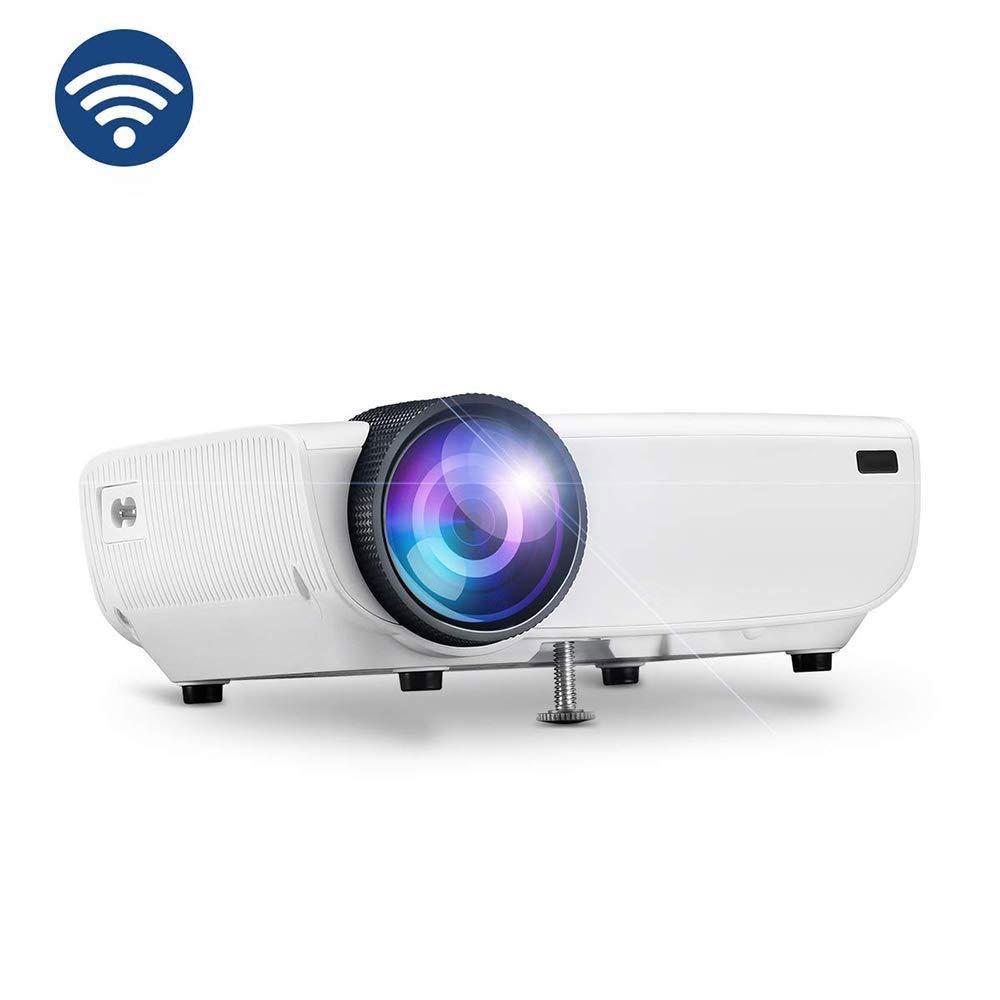 DHINGM Práctico proyector inalámbrico proyector, conecte con el ...