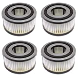MaximalPower Replacement HEPA Vacuum Filter (4 Pack) for Dirt Devil Type F15 and Fits 084505, 084506, 084507, 084501V and UD40052