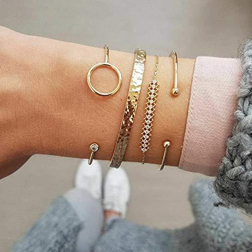 Rhinestone Swarovski Bangle (Hemau Fashion Flower Crystal Rhinestone Gold Silver Chain Bangle Bracelet Jewelry | Model BRCLT - 184 |)