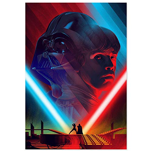 Skywalker Poster - Printing Pira - Star Wars Darth Vader and Luke Skywalker Poster (18x24)