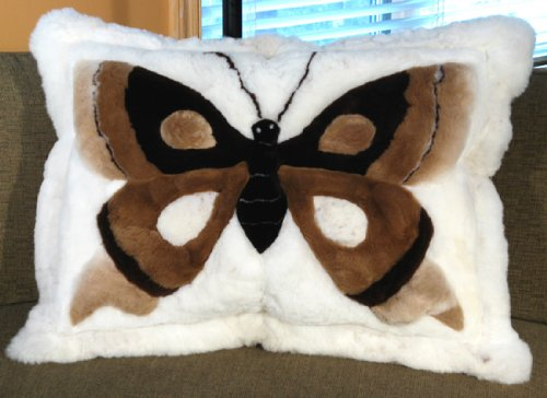 SoftRugs Butterfly Design 24-Inch by 32-Inch Rectangular Alpaca Pillow Cover by SoftRugs