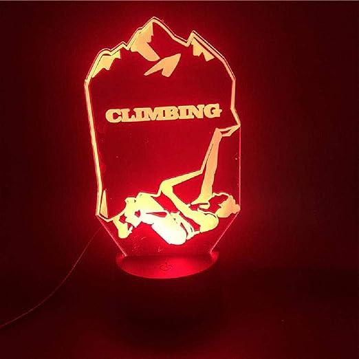 Lámpara 3D Escalada de montaña Deportes Base de altavoz ...