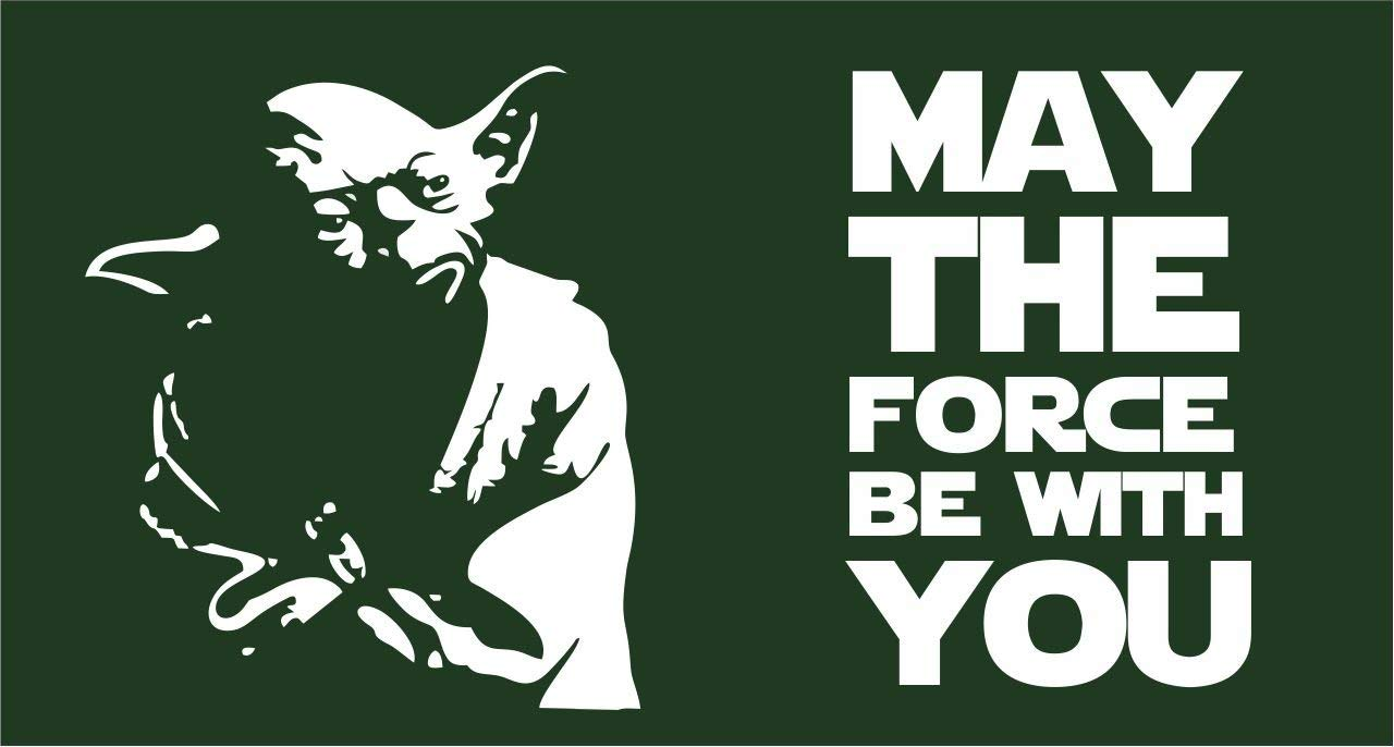 Amazon.com : Yoda May the Force be with You | 3 x 5 Ft / 90 x 150 cm |  Large Long Lasting Flag