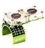 traxxas motor fan - Integy RC Model Hop-ups T8534GREEN Motor Heatsink + Twin Cooling Fan for Traxxas 1/10 Slash 4X4 (6808)