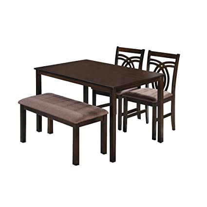 773ebaf5493 HomeTown Stella Four Seater Dining Table Set (Walnut)  Amazon.in  Home    Kitchen