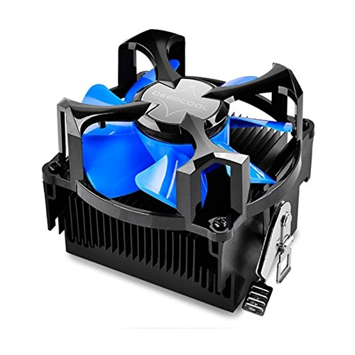 Deep cool ETS-N30R-TAA 9 cm Side Flow Type CPU Cooler Blue LED, Clear