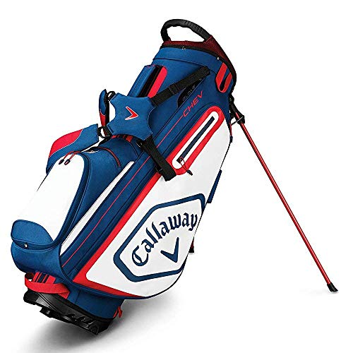 Callaway Golf 2019 Chev Stand Bag, Navy/White/Red
