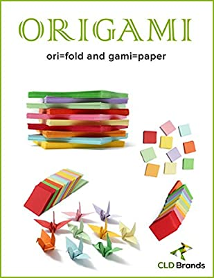 CLD Brands Premium Origami Fun Kit - Bonus DYI Origami Designs eBook - 620 Colorful Sheets Assorted in 2 Different Sizes - Art and Crafts - Educational Fun