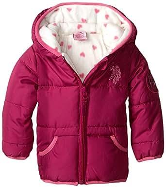 Amazon.com U.S. Polo Assn. Baby Girlsu0026#39; Heavy Weight Bubble Jacket Clothing