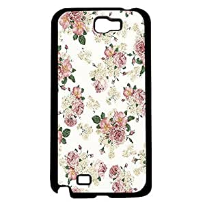 Pink and Peach Vintage Floral Hard Snap on Phone Case (Note 2 II)