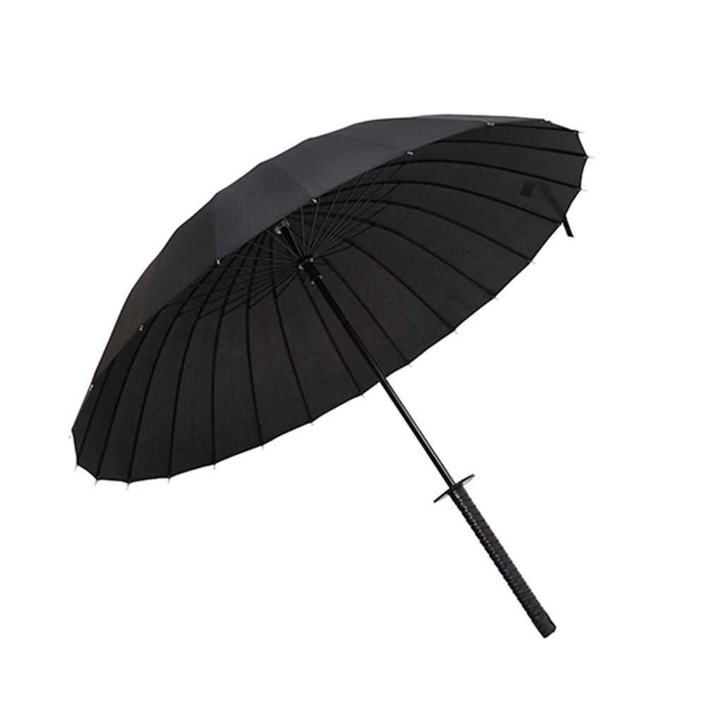 Black Katana Umbrella Large Size Hanamaki Samurai E Ninja Giapponesi