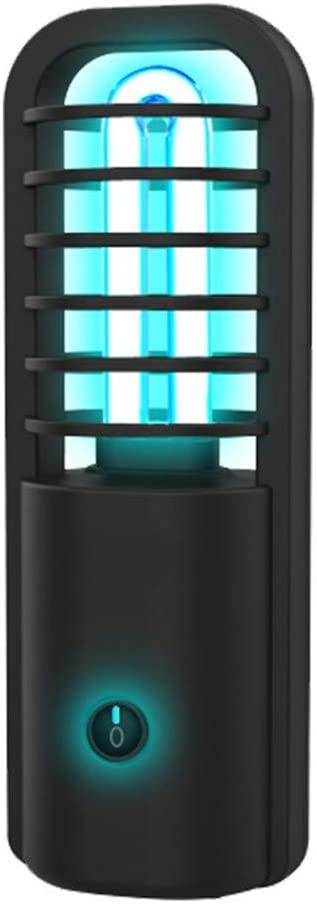 Alan L/ámpara de Desinfecci/ón UV Esterilizador Port/átil Recargable USB Esterilizador UV Luz L/ámpara Germicida Ultravioleta para Coche Hogar Nevera Inodoro Negro