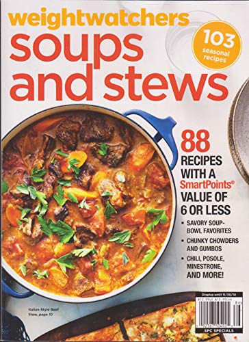 Weightwatchers Magazine Soups & Stews Fall 2018