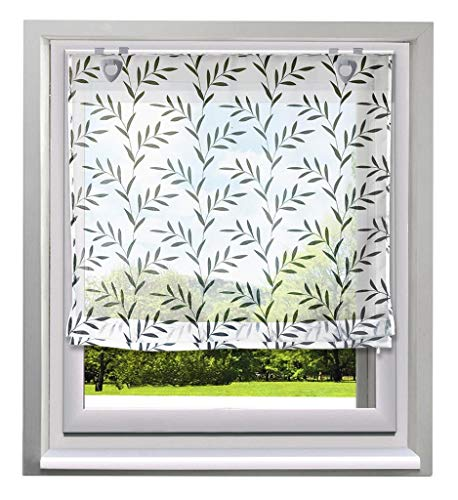 (86 York Roman Shades Balcony Window Curtain Voile Valance for House Decorative 1 Panel)