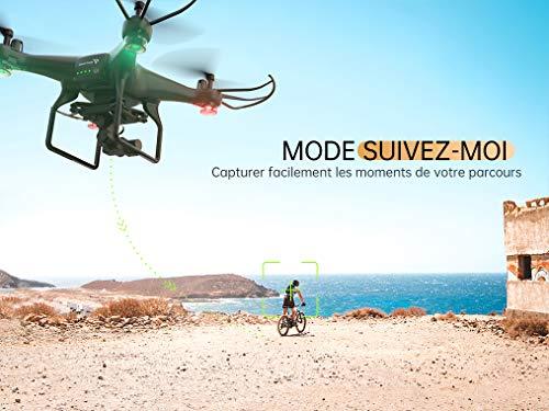 SNAPTAIN SP600N Drone GPS avec Caméra 2K HD Cardan à 2-Axes FPV 5G, GPS RTH Retour à la Maison, Suivez-Moi, Point d…