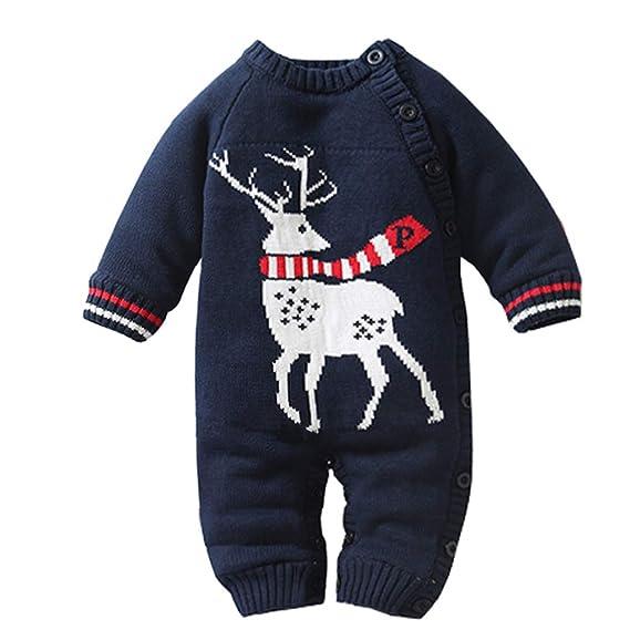 LPATTERN Suéter Acolchado de Terciopelo Peleles Invierno para Bebes Mameluco de Punto con Capucha Dibujo Animado: Amazon.es: Ropa y accesorios