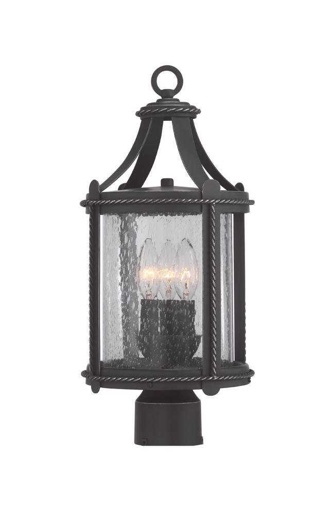 Palencia 8'' Post Lantern by Designers Fountain 33636-APW in Black Finish by Designers Fountain (Image #1)