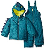 Carter's Little Boys' Character Snowsuit, Green Dinosaur, 4