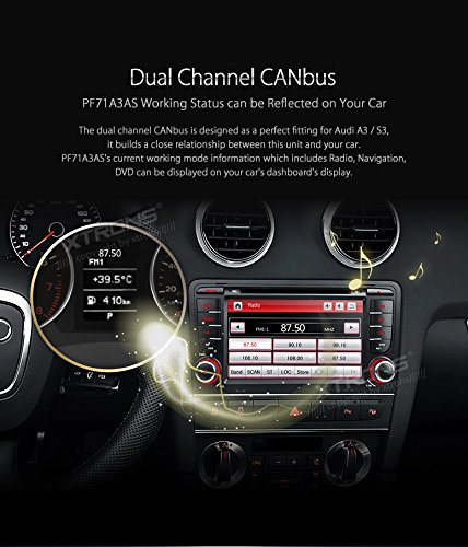 XTRONS 7 Inch HD Digital Touch Screen Car Stereo In-Dash DVD Player with GPS Navigation Dual Channel CANbus Screen Mirroring Function for Audi A3 S3 Kudos Map Card Included by XTRONS (Image #5)