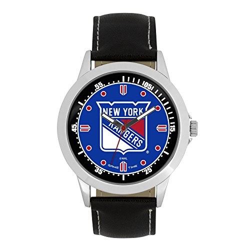 NHL New York Rangers Mens Player Series Wrist Watch, Silver, One Size (Best Nhl Players Of All Time)