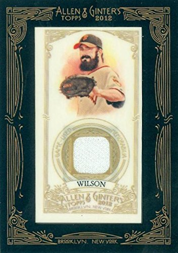 Brian Wilson player worn jersey patch baseball card (San Francisco Giants) 2012 Topps Allen & Ginters #AGRBW