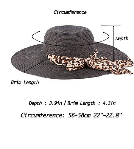 9f859158e2f EUPHIE YING Women Summer Fedora Beach Sun Hats Short Brim