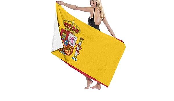 W-wishes Bandera de España Toallas de Microfibra de Playa Secado rápido Súper Absorbente Baño Toallas de Piscina para natación y Aire Libre: Amazon.es: Hogar