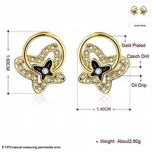 MOMO Boucles D'oreilles Trèfle Populaires Or Blanc / Acier Inoxydable / Anti-allergique / Brillant Argenté / Diamant / Cristal Blanc / Zircon