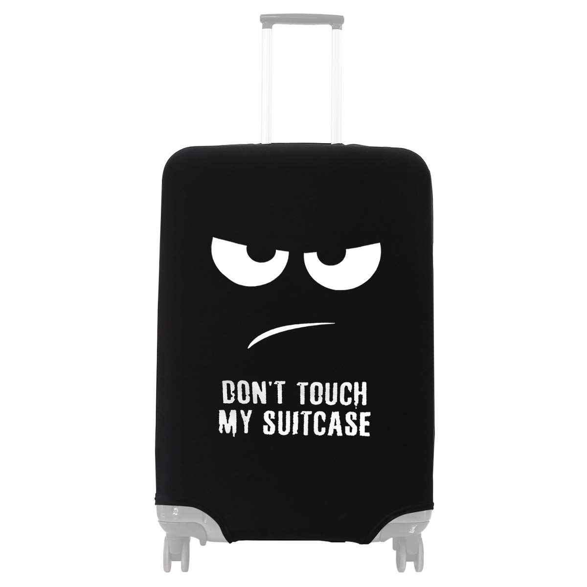 Creative Smile Design Travel Suitcase Protector Anti-scratch Washable Dust Thicken Elasticity Cover Travel Luggage Cover