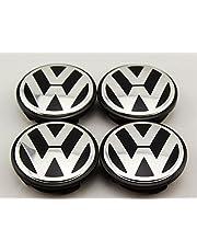 AOWIFT 4 pcs 65mm Wheel Center Cap Hub Cover for VW Volkswagen Golf GTI Passat Jetta