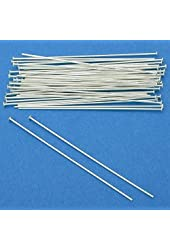 50 Sterling Silver Headpins Head Pins 22 Gauge 2 Inches New